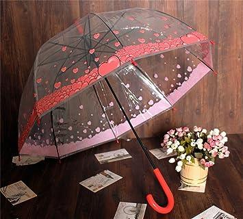paraguas Transparente Un Paraguas Pequeño fresco de mango largo Paraguas creativos automático de los hombres Y