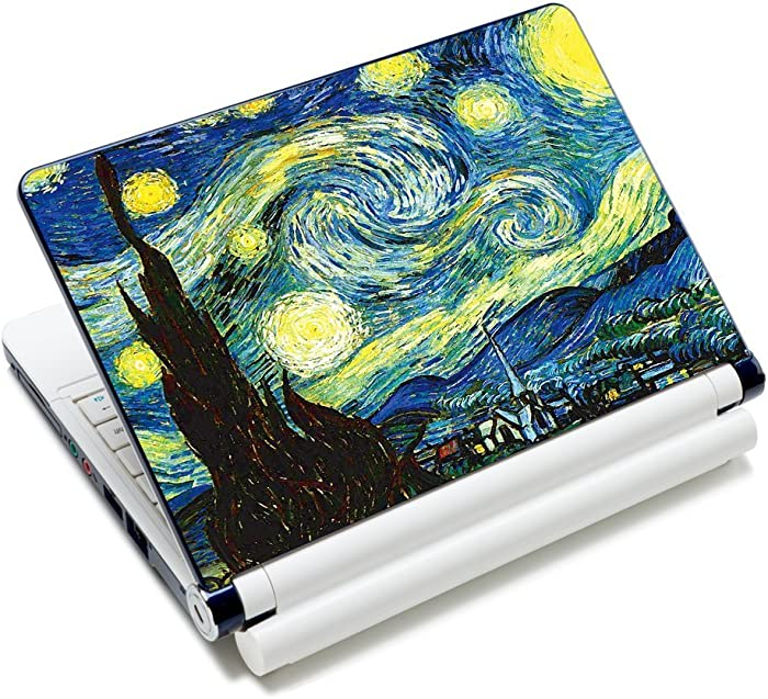 "Laptop Skin Sticker Decal,12"" 13"" 13.3"" 14"" 15"" 15.4"" 15.6 inch Laptop Skin Sticker Cover Art Decal Protector Notebook PC (Starry Night)"