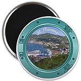 "CafePress - St Thomas Porthole Magnet - 2.25"" Round Magnet, Refrigerator Magnet, Button Magnet Style"