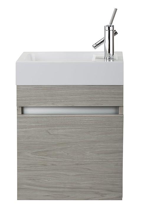 Cutler Kitchen U0026 Bath FVPICCWKND18 Sangallo 18 In. Space Saver Bathroom  Vanity, White