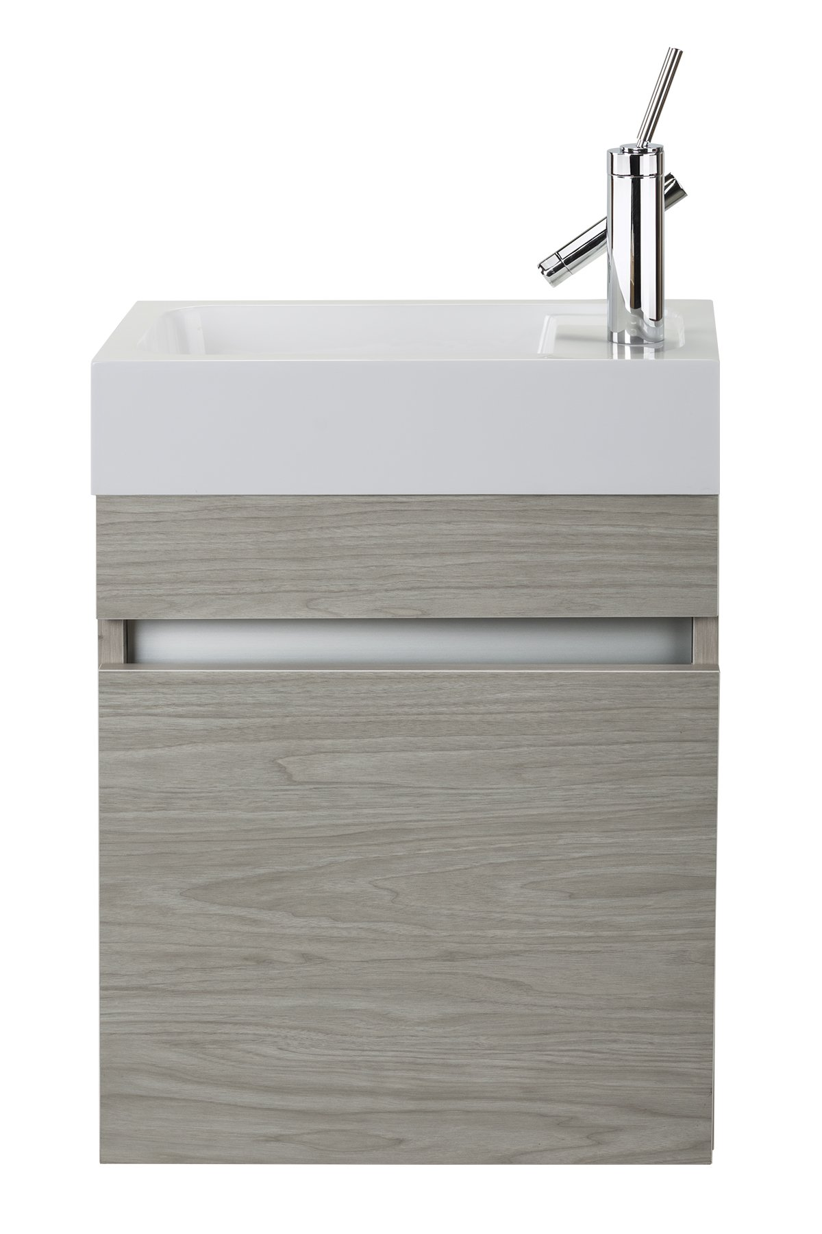 Cutler Kitchen & Bath FVPICCWKND18 Sangallo 18 in. Space Saver Bathroom Vanity, 18 inch, White - Includes cabinet Select from available finishes Wood construction - bathroom-vanities, bathroom-fixtures-hardware, bathroom - 71R j0yuwTL -