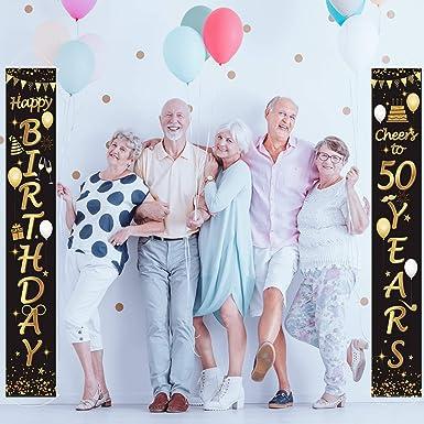 Lager Pinte 50th Geburtstag Banner x2 Party Dekorationen Ehemann Opa Jeder Name