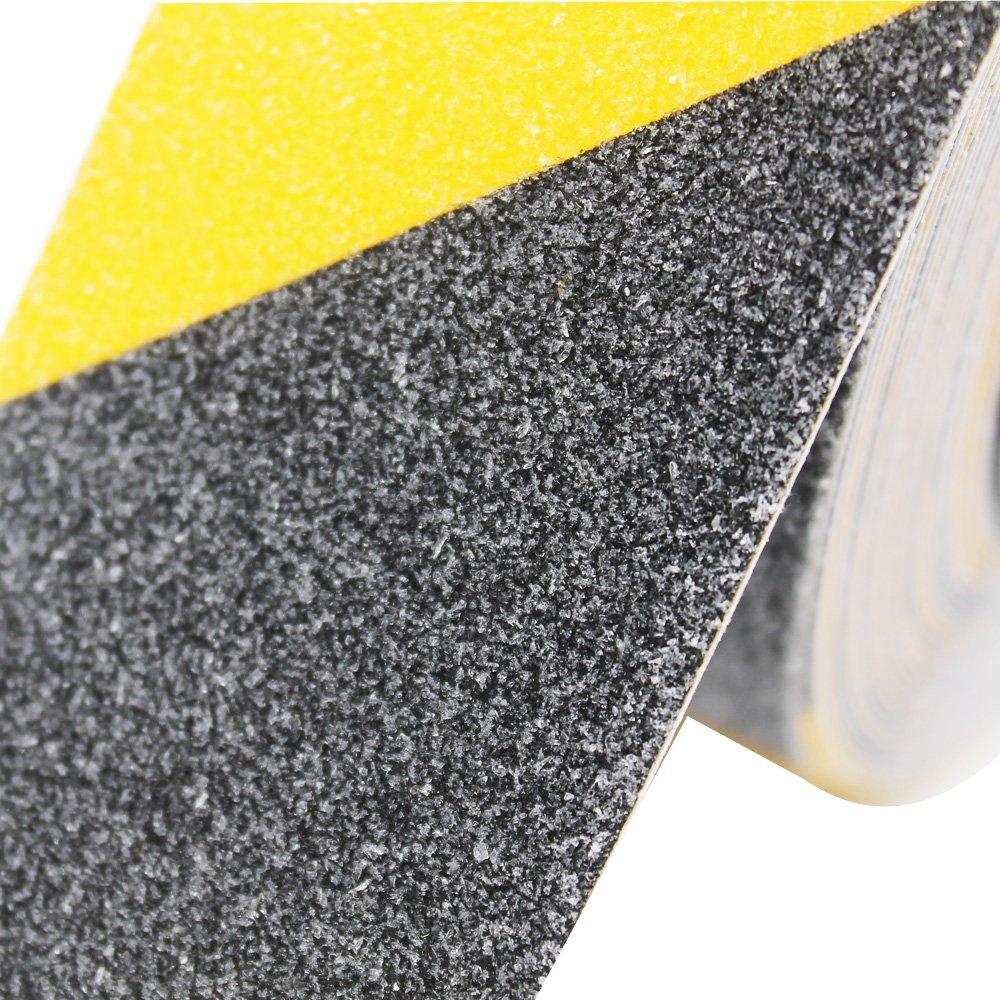 ARTGEAR Cinta Antideslizante Seguridad, Cinta Adhesiva Respaldados, Alta Tracción Fuerte Apretón Abrasivo, Usar Interiores y Exteriores (10M × 5cm, ...