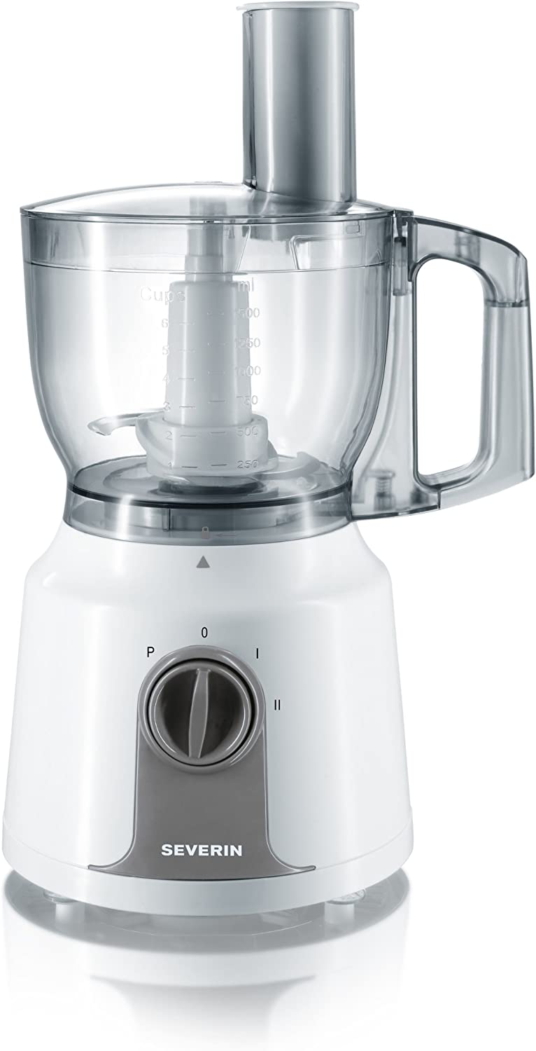 Severin 3908 - Procesador de alimentos 375 W, color blanco y gris: Amazon.es: Hogar