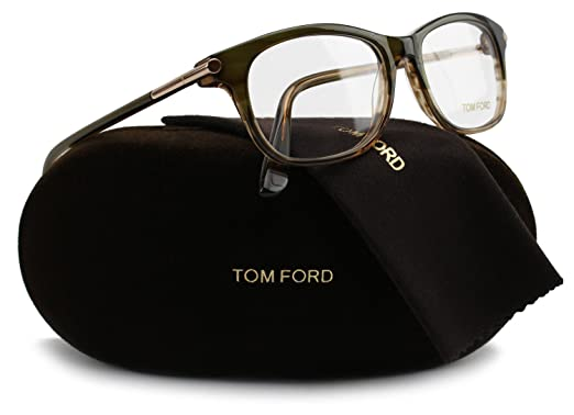 7f0647fff8a Image Unavailable. Image not available for. Color  TOM FORD FT5237  Eyeglasses Frame Transparent Green (098) ...
