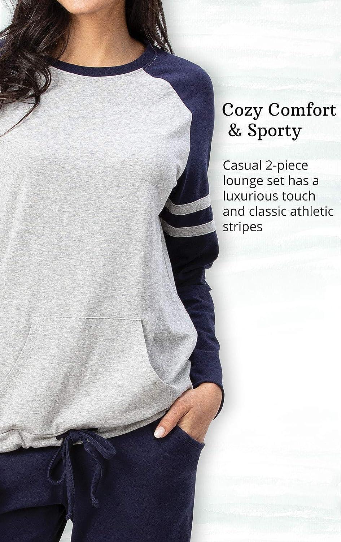 Sunday Funday Jersey PJ Sets for Women Addison Meadow Womens Pajamas Cotton