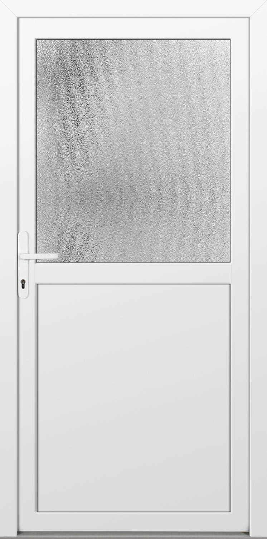 Wei/ß, PVC, Glaseinsatz, Dr/ückergarnitur, 88 B x190 Kunststoff Nebeneingangst/ürPAULA 60mm H cm, DIN Links, innen /öffnend