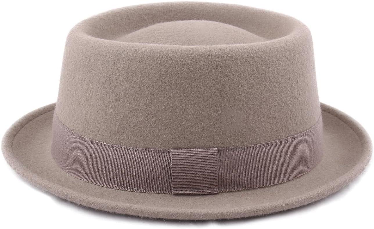 Classic Italy Classic Porkpie Wool Felt Pork Pie Hat