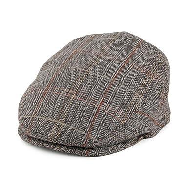 866f407d4db Jaxon   James Kids Tweed Flat Cap - Brown-Grey  Amazon.co.uk  Clothing