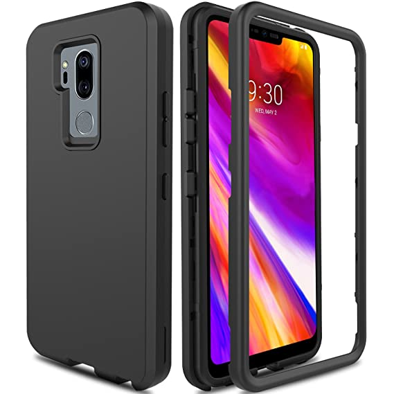 pretty nice 27024 061b7 LG G7 ThinQ Case G710, LG G7+ ThinQ Case, LG G7 Phone Case AMENQ Heavy Duty  Protection with Shockproof Silicone Rubber Shell and Scratch Resistant PC  ...