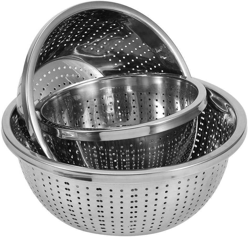 YYRL Filtre de Riz de Cuisine-3 pi/èces//Ensemble Tamis /à Riz en Acier Inoxydable Filtre de Lavage de Riz passoire /égouttoir de Nettoyage de Cuisine Gadge