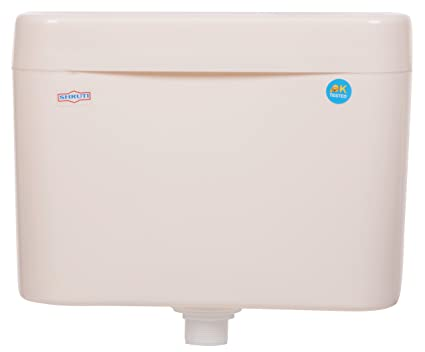 SHRUTI Slim Body Heavy Duty Push Type Flushing Cistern,Flush Tank - Ivory(2254)