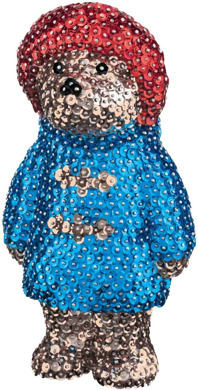 Paddington Bear Face Sparkling Craft Picture Kit Sequin Art Paddington
