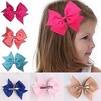 Jintes 10pcs niñas cinta arco pinza para el pelo Kids Alligator Clips accesorios del pelo del partido Diademas y cintas para el pelo