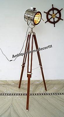 Nauticalmart Adjustable Tripod Spotlight Floor Lamp Amazon Com