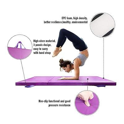 "Tri Folding Exercise 2/"" Thick Mat Gymnastic Training Workout Non Slip Yoga Gym"