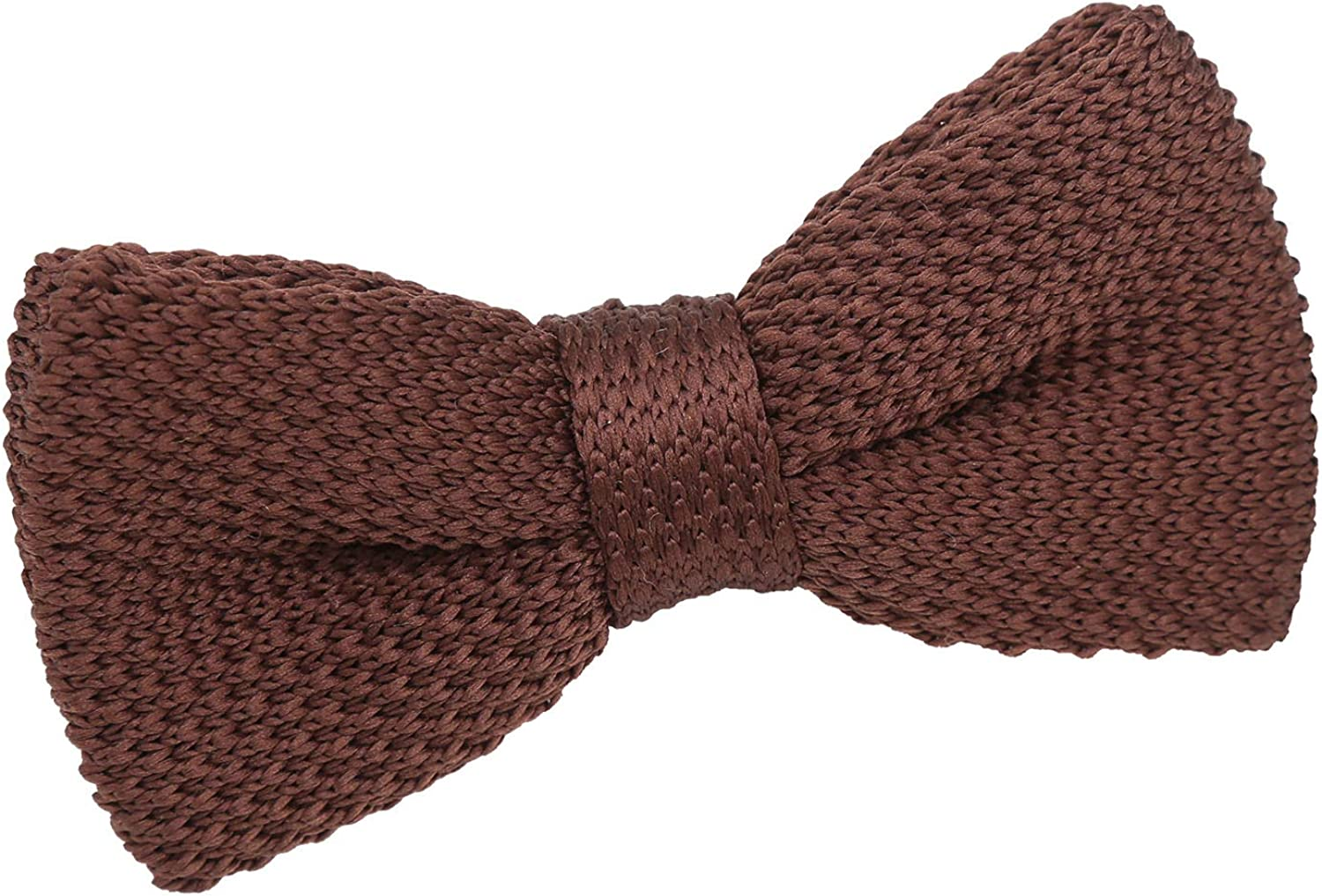 DQT Boys Knit Knitted Casual Plain Pre-tied Bow Tie