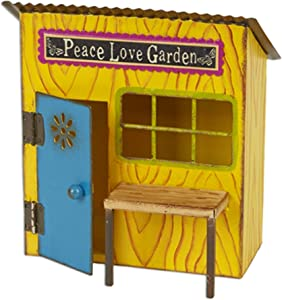 Peace & Love Potting Shed for Miniature Garden, Fairy Garden