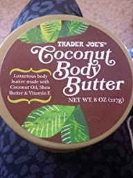amazoncom trader joes coconut body butter  oz  coconut oil body butter beauty