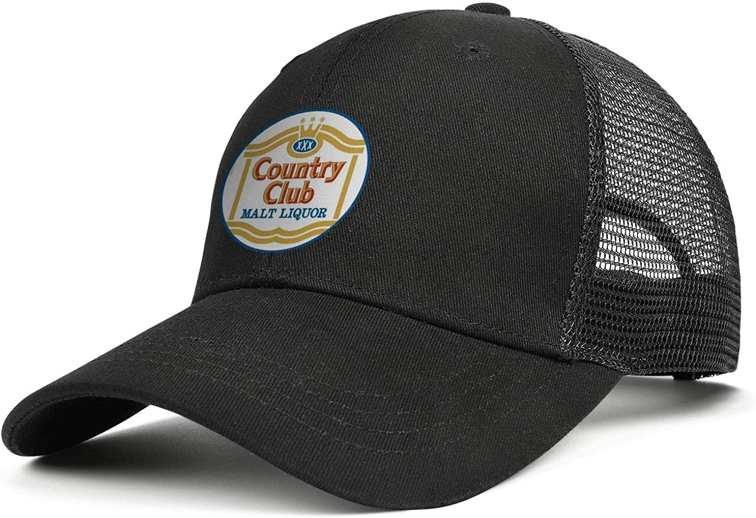chenhou Unisex Country Club Malt Liquor Hat Adjustable Fitted Dad Baseball Cap Trucker Hat Cowboy Hat
