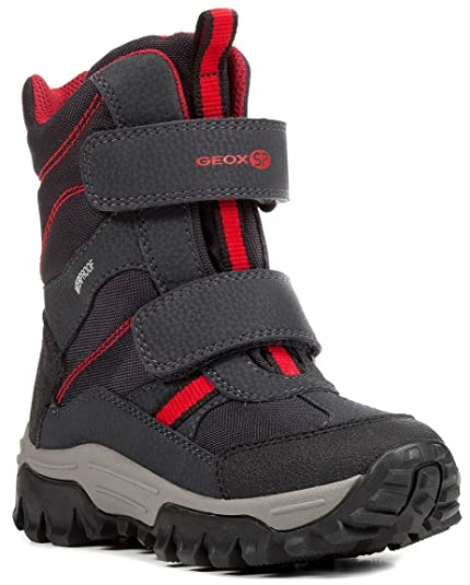5bafe93cbf7cf Geox Himalaya J843AB 050FU C0070 Boys  Waterproof Faux Leather Winter Boots  Grey Size  1