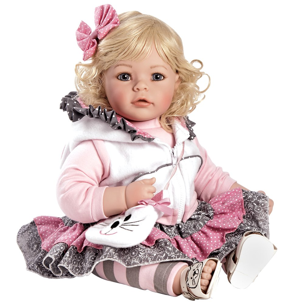 Adora Toddler The Cat's Meow 20'' Girl Weighted Doll Gift Set for Children 6+ Huggable Vinyl Cuddly Snuggle Soft Body Toy