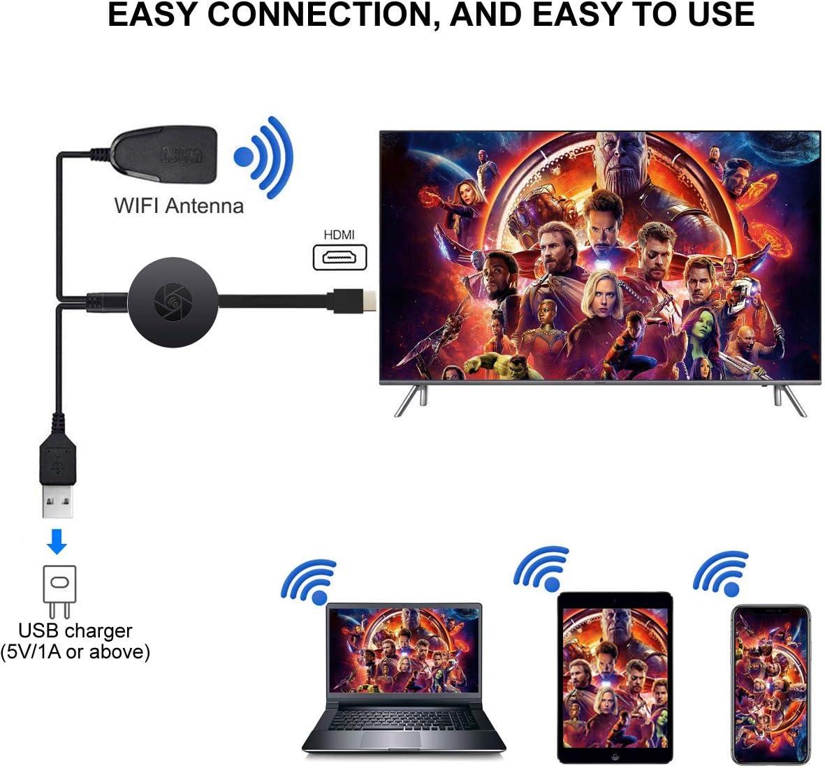 4K & 1080P Display Wireless HDMI Adapter 4K WiFi Display ...