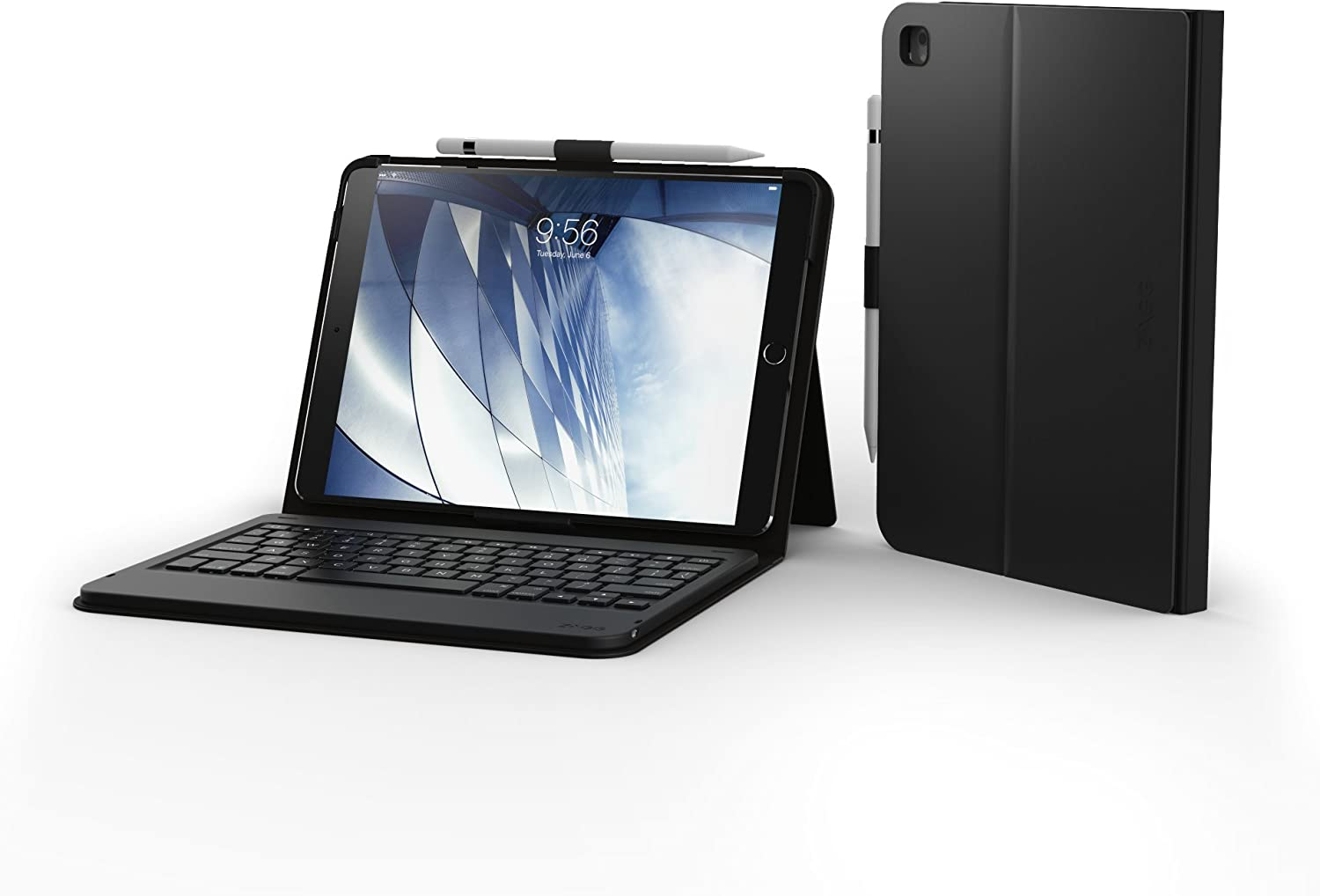 "ZAGG Messenger Folio - Bluetooth Tablet Keyboard - Made for Apple iPad 10.5"" and 10.5"" Air - Charcoal"