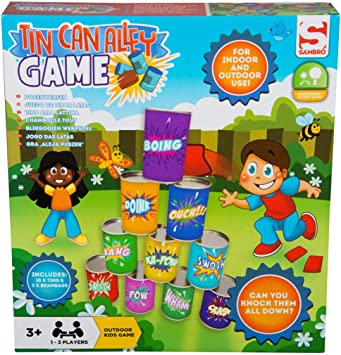 Sambro - Lata de Lata, diseño de callejón de jardín al Aire Libre, Juguetes de Fiesta para niños pequeños, Multicolor: Amazon.es: Juguetes y juegos