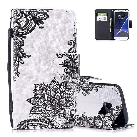 Blanc Coque Samsung S7 Aeeque Luxe Livres Design Etui En Cuir