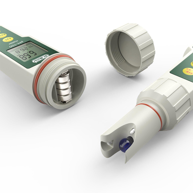 Blanc 0-14pH Plage de mesure PH- M/ètre Dr.meter PH100 0,01 R/ésolution Haute Pr/écision Pocket Taille avec lATC