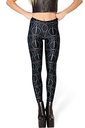 aa412993dbdc6 Lady Queen Women's Harry Potter the Deathly Hallows Stretch Skinny ...