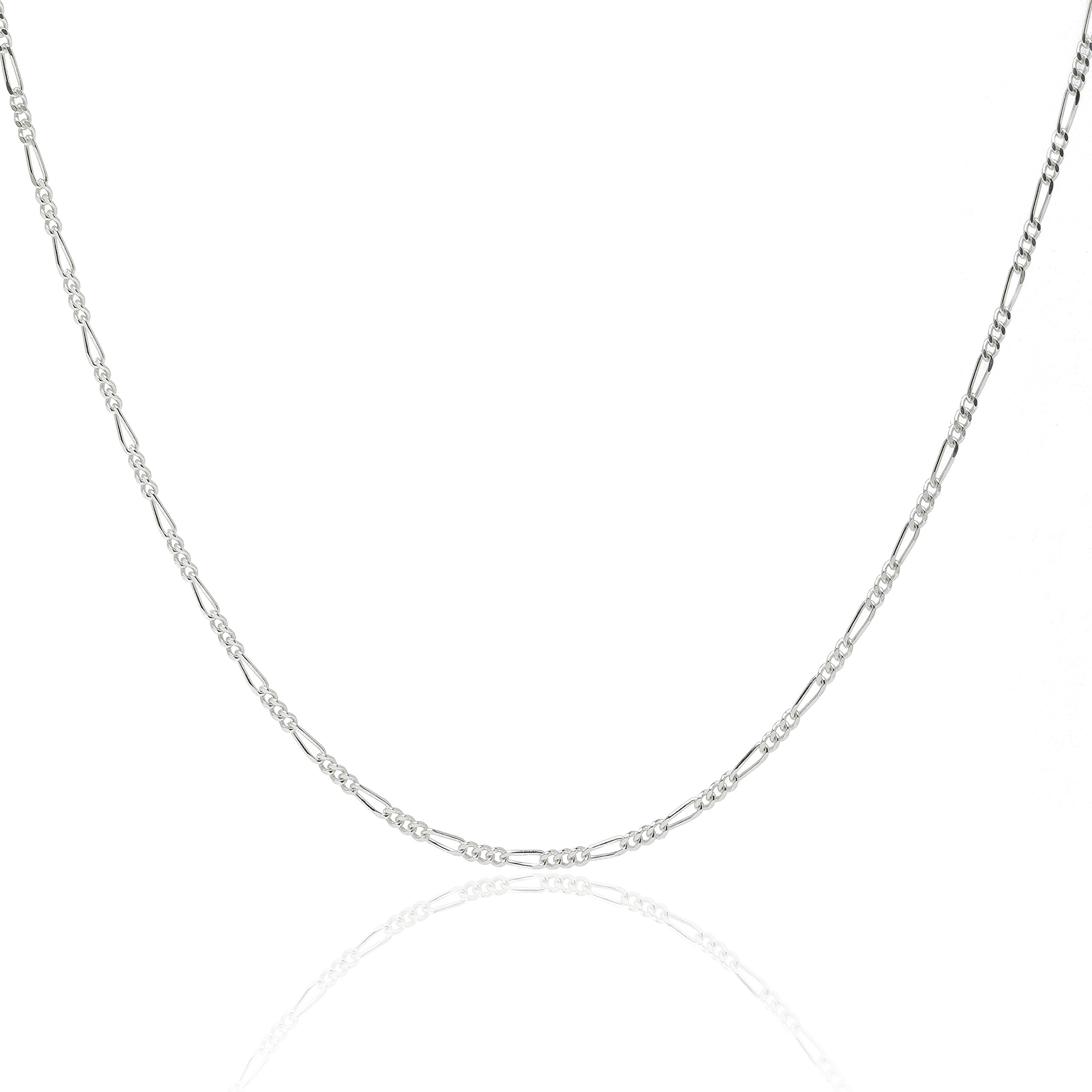 925 Sterling Silver 1.8MM Figaro Chain - Italian Necklace For Women - Lobster Claw Clasp 24 Inch by Designer Sterling Silver (Image #9)