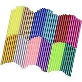 72 Pieces Glitter Hot Glue Colored Gun Sticks, 12 Colors, AFUNTA EVA Glue Mini Size Hot Melt Adhesive Sticks for DIY Art Craf
