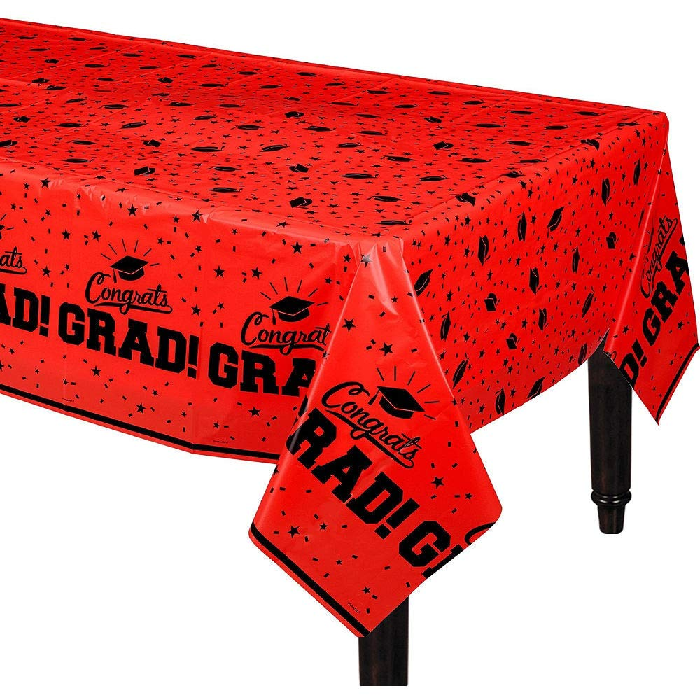 Party City Red Congrats Grad 2019 Graduation Party Supplies for 36 Guests with Banner, Tableware and Balloons by Party City (Image #7)