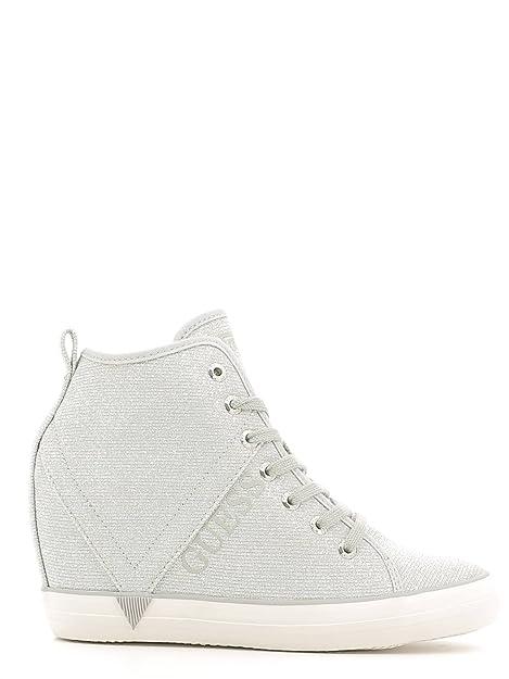 Guess Sneakers, Damen Sneaker Silber Silve, Silber Silve