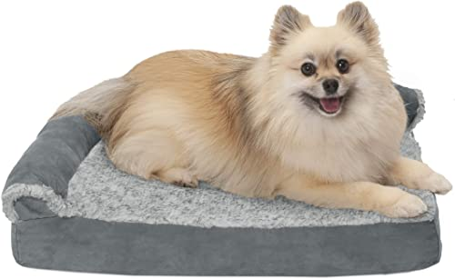 Furhaven-Pet-Two-Tone-L-Shaped-Corner-Sofa-Couch-Orthopedic-Dog-Bed