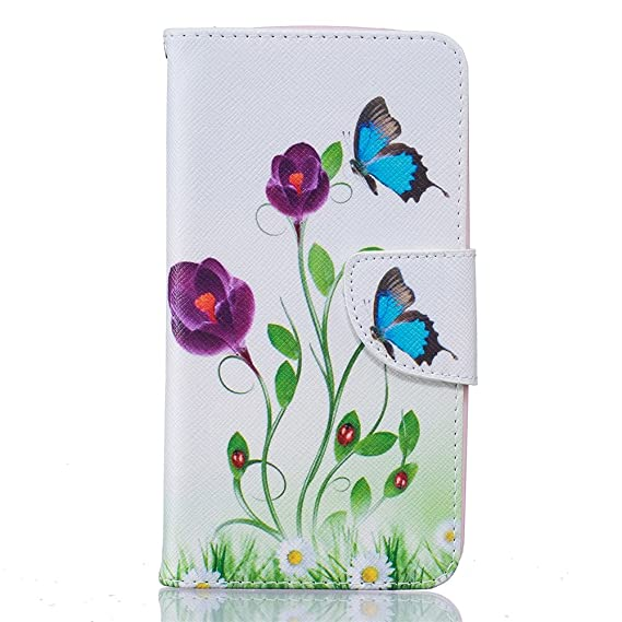 LG K10 Case, LG Premier Case, KAIDON [Painting Series] PU Leather Cover and  Soft TPU Inner Holder Flip Stand Wallet Case for LG K10/LG Premier LTE