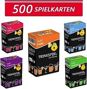 Glop 500 Spielkarten + App - Trinkspiel - Partyspiel - Kartenspiel - Spieleabend - Saufspiel - Brettspiel: Amazon.es: Juguetes y juegos
