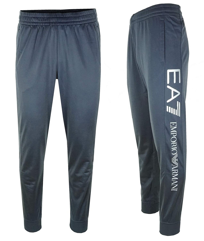 Emporio Armani EA7 Herren Men Hose Sport Jogging Fitness Pants Anthrazit Grau Blautöne