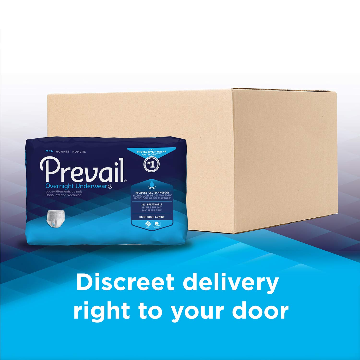 Amazon.com: Prevail for Men Incontinence Underwear, Overnight Absorbency, Large, 64 Count: Health & Personal Care