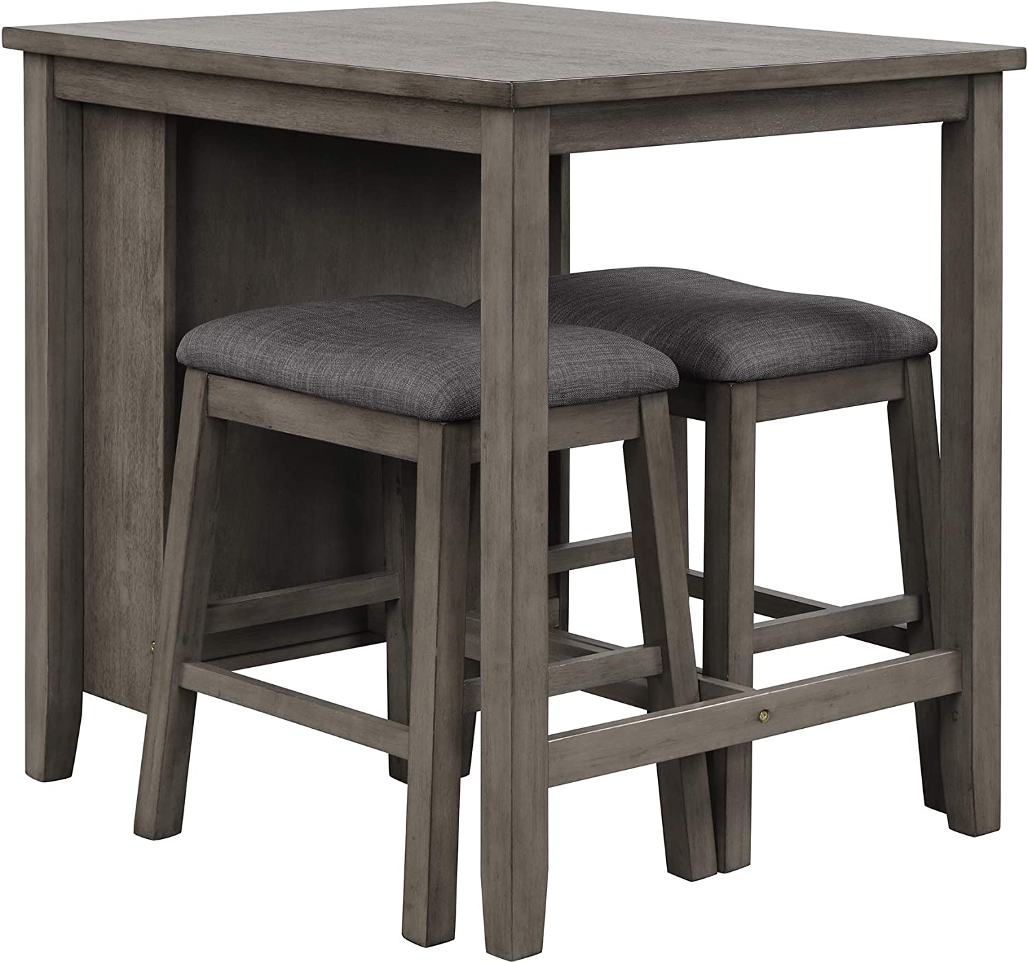 Dark Gray Table and Bar Stools for Kitchen,Living Room P PURLOVE 9 ...