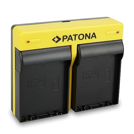 PATONA Dual Cargador Compatible con Olympus BLH-1 bateria Recargable, con Micro USB