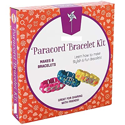 Paracord Charm Bracelet Making Set: DIY Bracelets Kit for Girls, Teens & Children - Make Your Own Personalized Friendship & Fashion Jewelry for Birthdays, Parties, Camps & Art Projects: Toys & Games