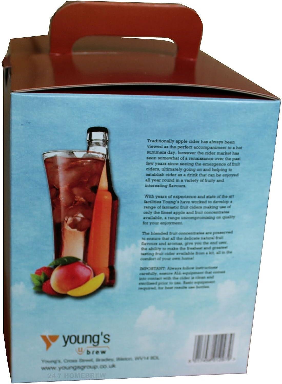 23 Litres Raspberry /& Mango Premium 3.5Kg Cider Kit Makes 40 Pints Homebrew Home Brew