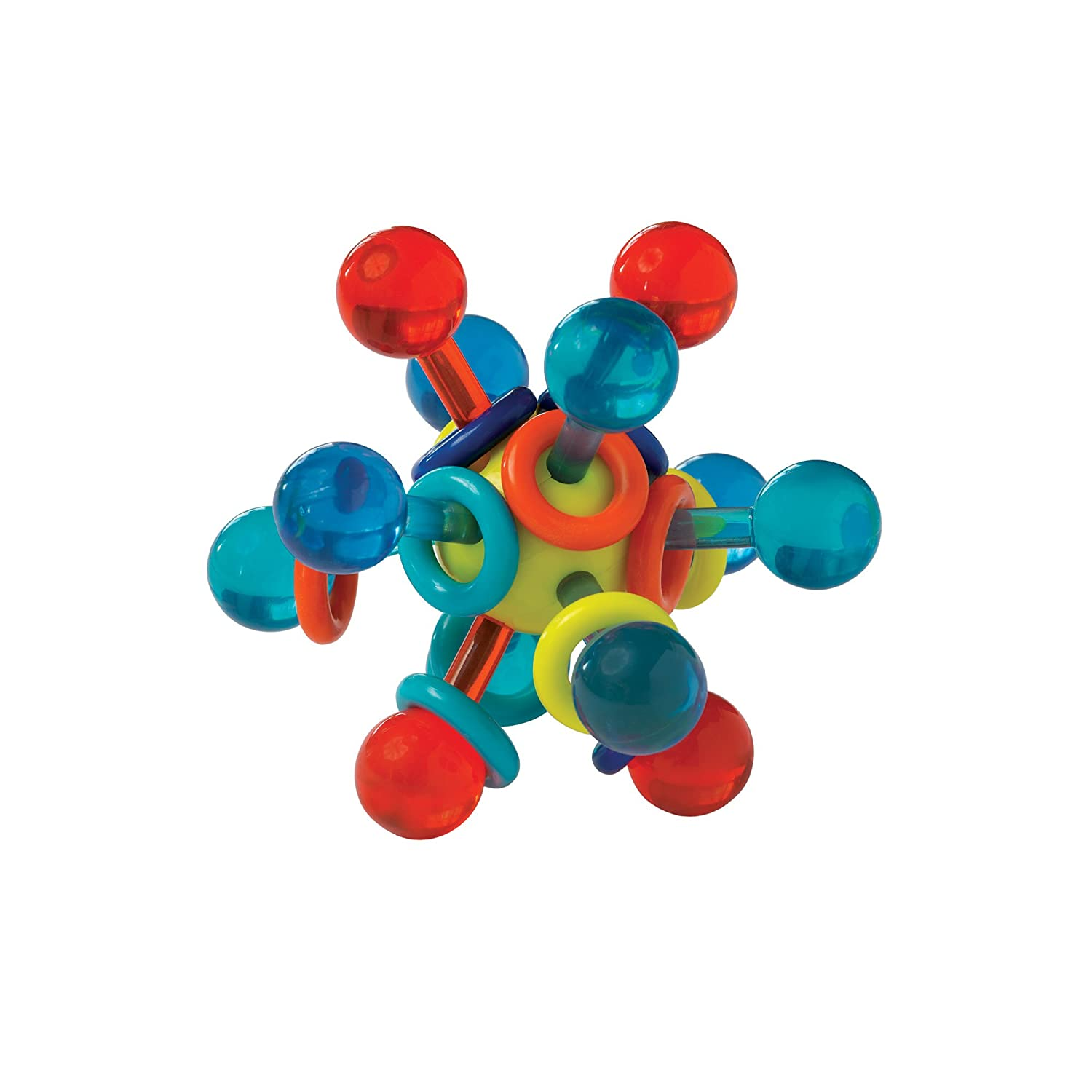 Manhattan Toy Transparent Atom Teether and Rattle Baby Toy 216100