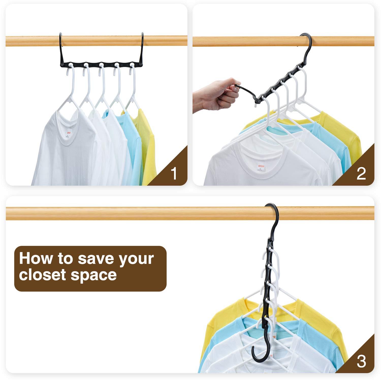 Pretigo Hangers Space Saving Closet Space Saver Magic Hangers 20 Pack Multi Space Saving Hangers Closet Organizer
