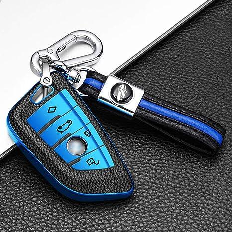 Ontto 4 Taste Autoschlüssel Hülle Abdeckung Für Bmw X5 F15 F48 X6 F16 F86 G30 G11 X1 F48 1er F21 2er 5er 7er 218i Tpu Silikon Auto Schlüsselhülle Schutzhülle Schlüsselanhänger Schlüsselschutz Blau Amazon De