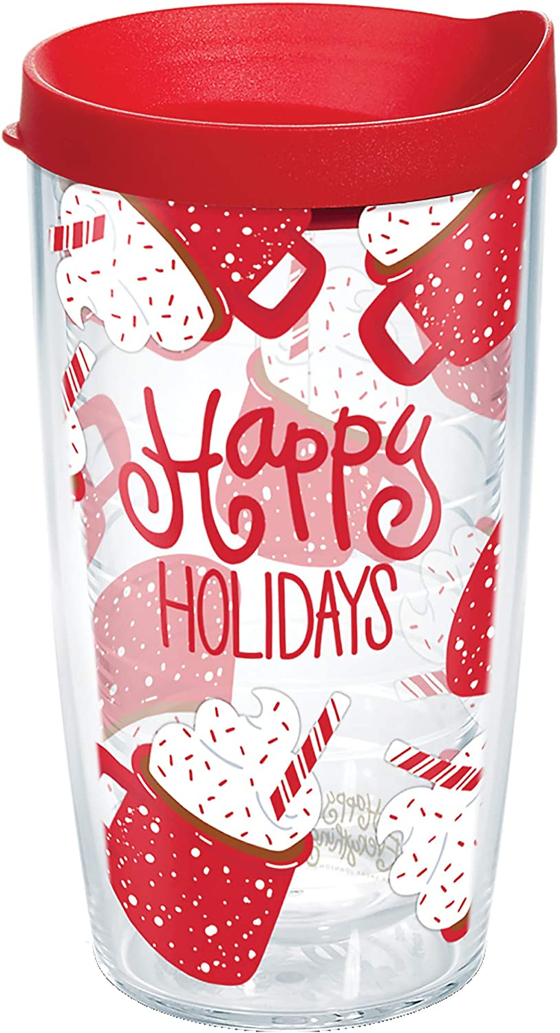 Tervis Happy Everything - Hot Cocoa Insulated Tumbler, 16oz, Clear - Tritan