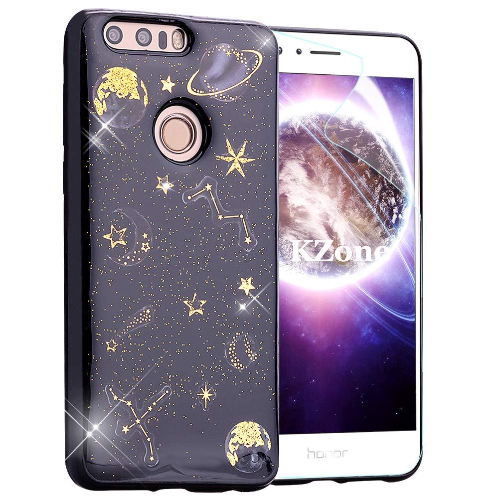 OKZone Funda Huawei Honor 8, [Serie Noche Estrellada] Cárcasa Brilla Glitter Brillante TPU Silicona Teléfono Smartphone Funda Móvil Case [Protección a Pantalla y Cámara] para Huawei Honor 8: Amazon.es: Electrónica